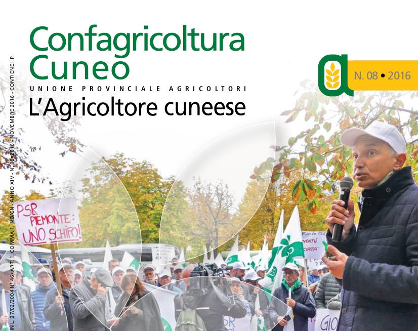 Copertina Agricoltore cuneese - novembre 2016