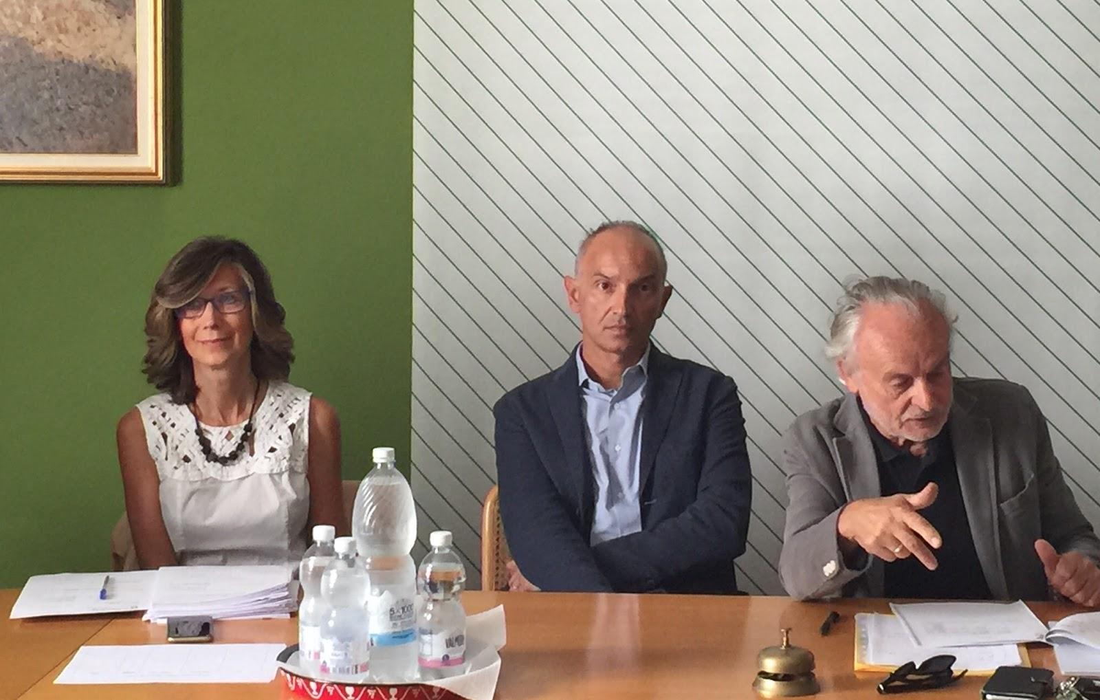 Da sinistra: Gabriella Fantolino, Enrico Allasia e Oreste Massimino