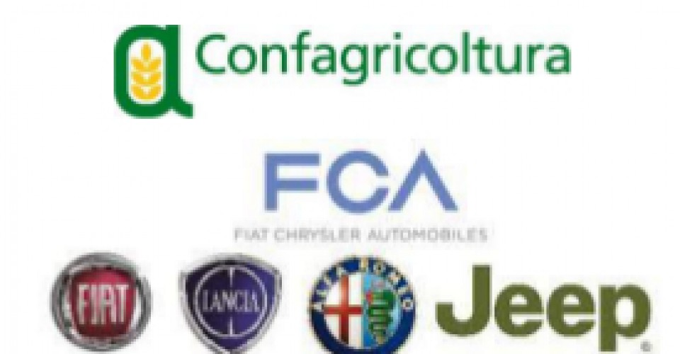 Rinnovato l'accordo Confagricoltura-FCA: sconti per soci e dipendenti sull'acquisto di nuovi veicoli