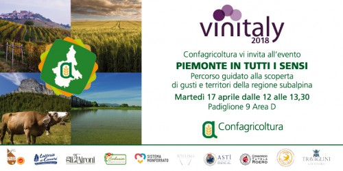 """Locandina """"Piemonte in ogni senso"""" - Vinitaly 2018"""
