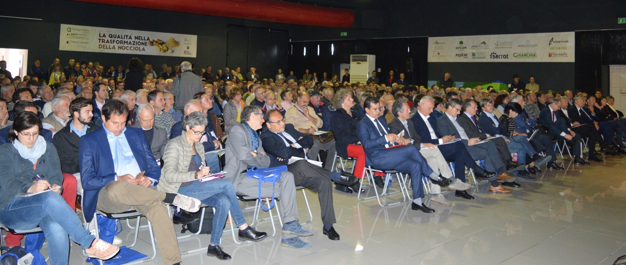 Il pubblico al convegno sul nocciolo 2018