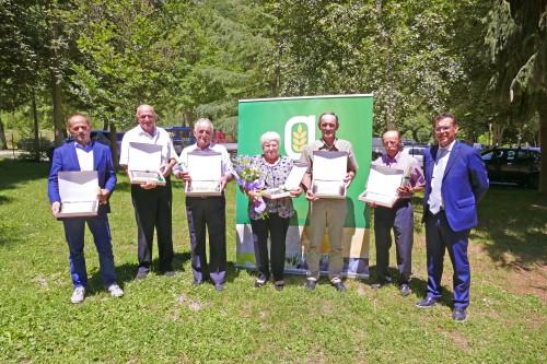 I premiati con gli Aratri d'Oro e l'Orgoglio Agricolo 2018