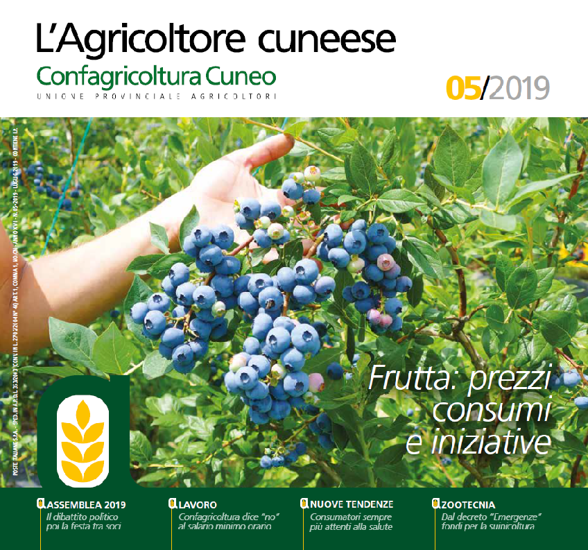 Copertina L'Agricoltore Cuneese luglio 2019