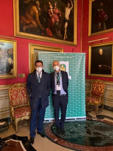 Anche il direttore Roberto Abellonio e il presidente Enrico Allasia erano presenti alle celebrazioni per il Centenario di Confagricoltura