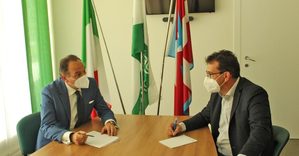 Il presidente della Regione Cirio in visita alla sede provinciale di Confagricoltura Cuneo