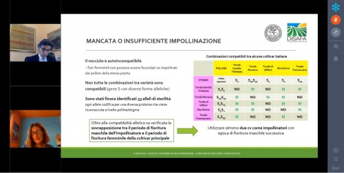 Nadia Valentini - relatrice webinar Nocciolo 2021